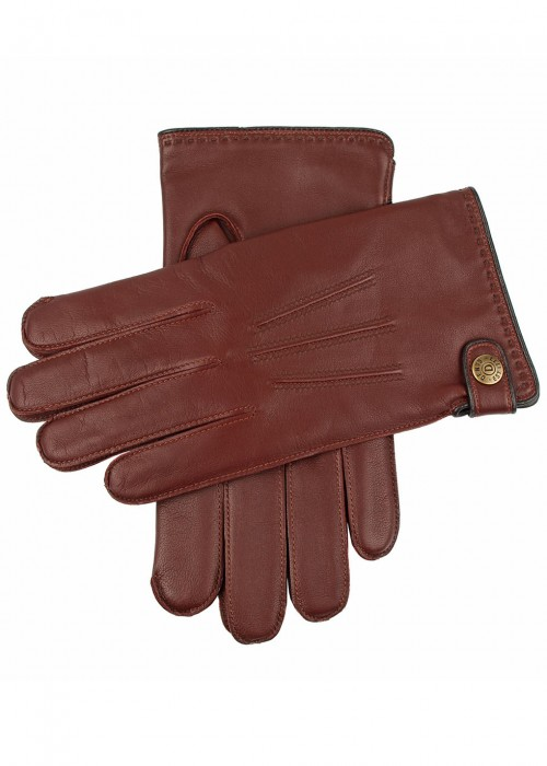 DENTS Salisbury Brown Leather Gloves in Tan