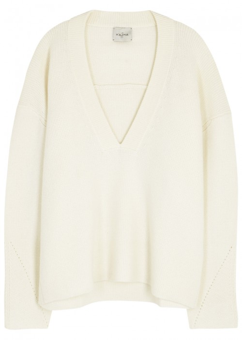 MOSCOW CREAM CASHMERE JUMPER