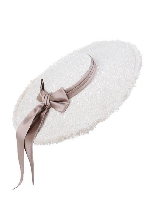 EMILY - LONDON Greta Boucle Wide Brimmed Hat