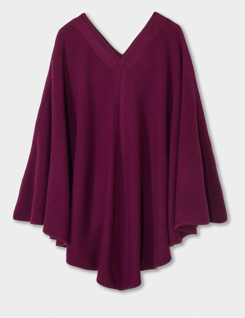 WINSER LONDON Merino Wool Y Stitch Poncho