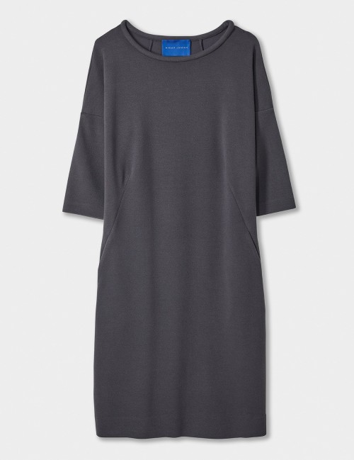 Crepe Jersey Sleeve Shift Dres