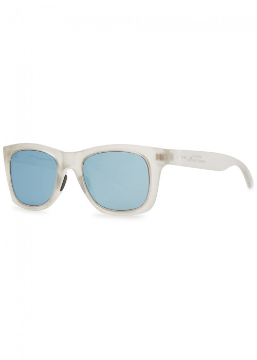ITALIA INDEPENDENT FROSTED WAYFARER-STYLE SUNGLASSES