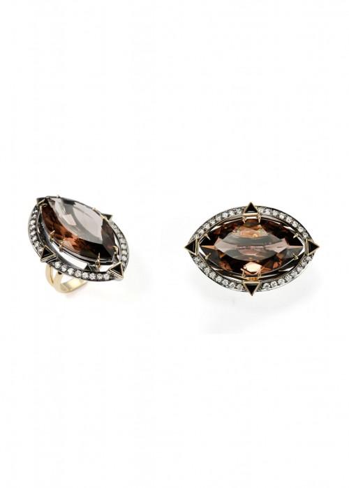 ARA VARTANIAN DIAMONDS AND QUARTZ RING