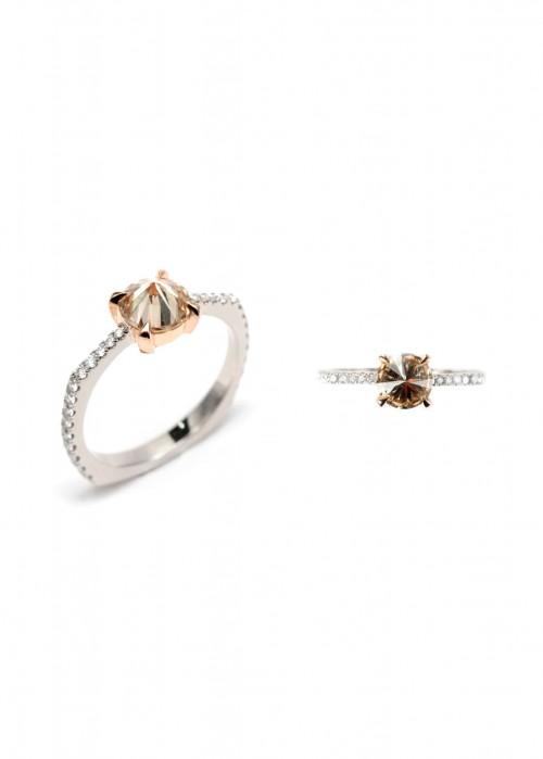 ARA VARTANIAN INVERTED BROWN DIAMOND RING