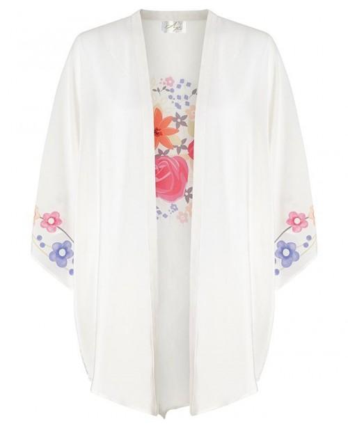 AYA SILK Agate Beach Kimono