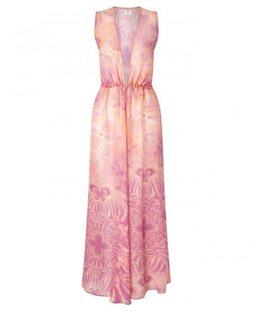 AYA SILK Rhodochriste Chiffon Cover Up