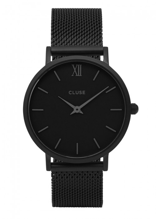 CLUSE MINUIT BLACK STAINLESS STEEL WATCH