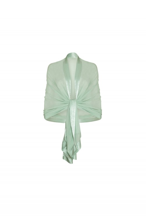 ZARA SHAWL DUSTY GREEN