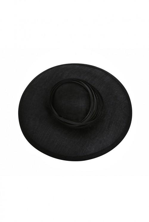 EMILY - LONDON Keverne Wide-Brimmed Black Hat