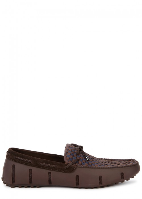 Swims  BROWN WOVEN RUBBER LOAFERS