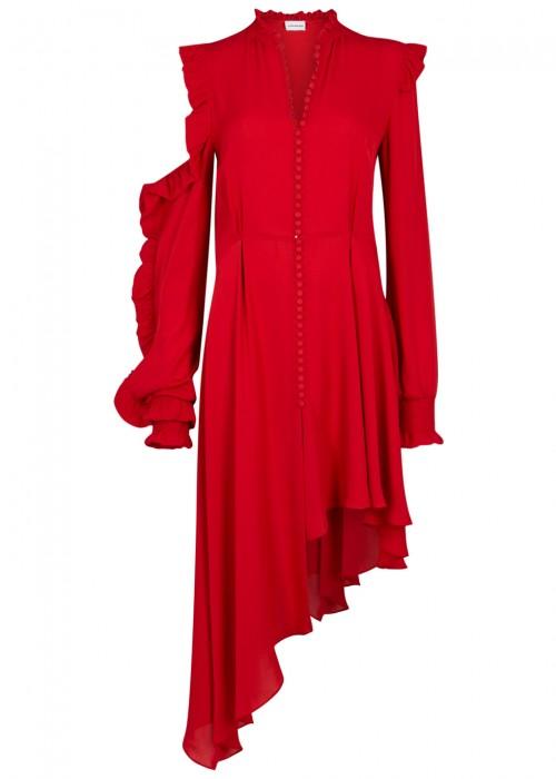 Magda Butrym  MARBELLA RED SILK DRESS