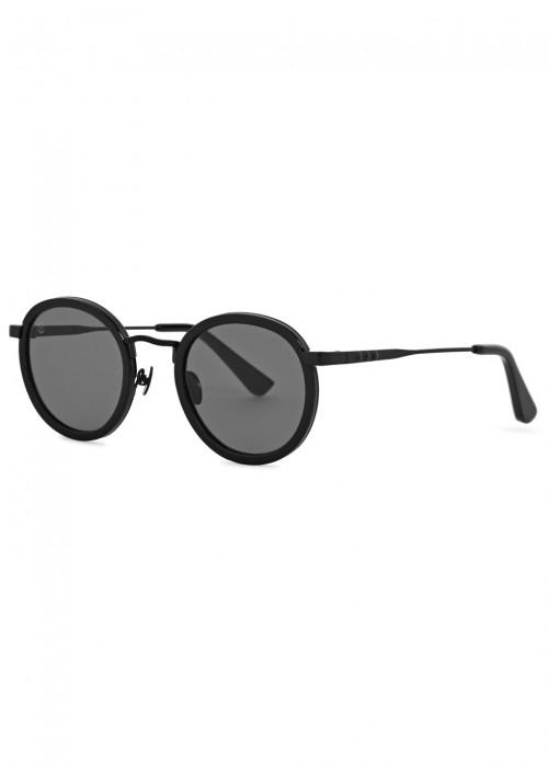 Zero Black Round-Frame Sunglasses