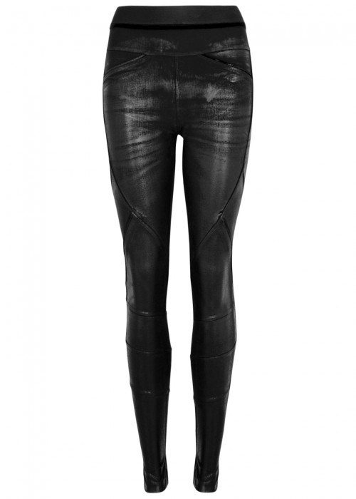 High LAY-OUT COATED JERSEY LEGGINGS