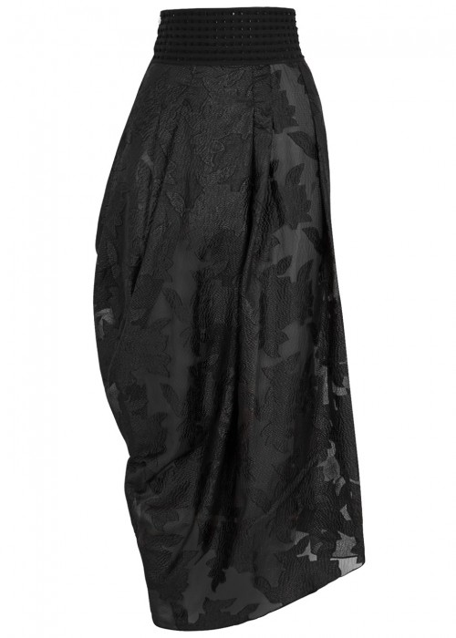 High MAQUETTE DRAPED JACQUARD SKIRT