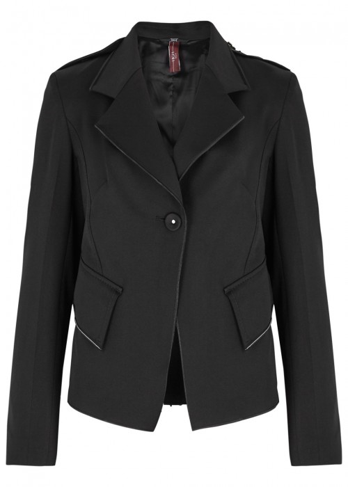 High ATTACHE BLACK COTTON BLEND JACKET