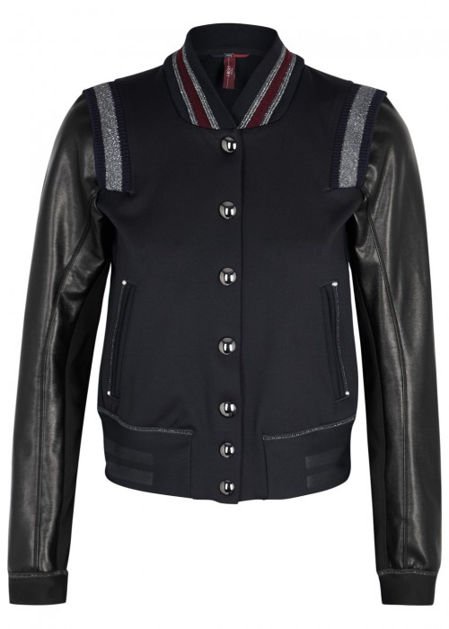 High METRO JERSEY AND FAUX LEATHER JACKET
