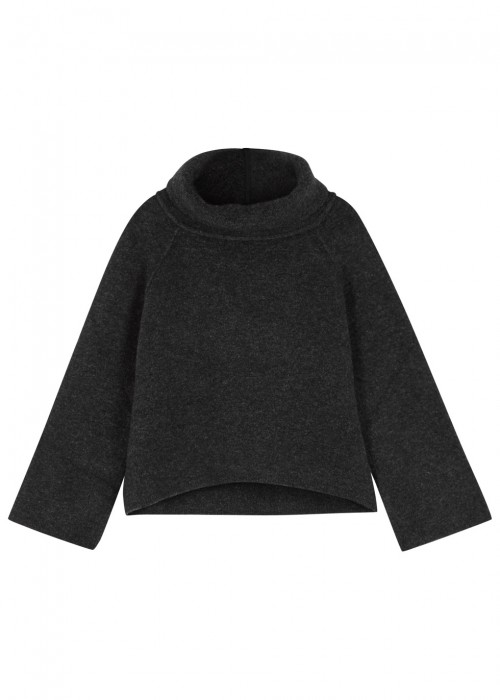High JASPER CHARCOAL WOOL BLEND JUMPER