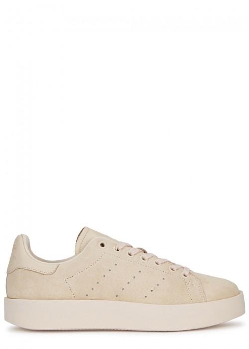 Adidas Originals  ADIDAS ORIGINALS STAN SMITH BOLD STONE SUEDE TRAINERS