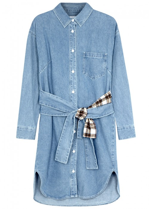 Sjyp BLUE DENIM SHIRT DRESS