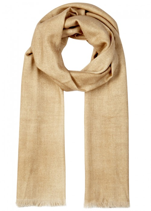 AMA PURE Sand Wool Scarf in Beige