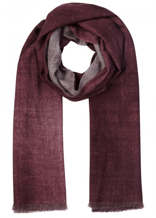 AMA PURE Burgundy Wool Scarf