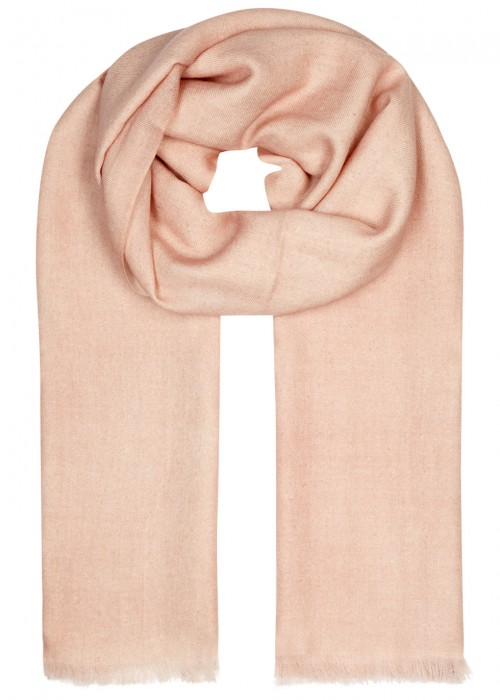 AMA PURE Peach Wool Scarf in Pink