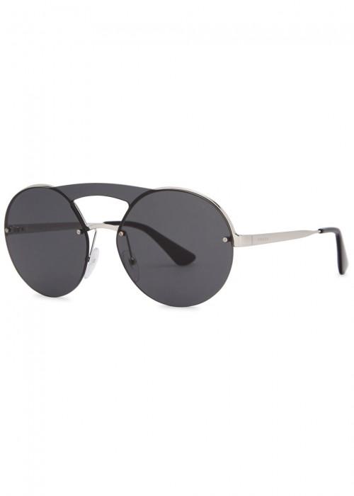 6014c897be3a Prada Pr65Ts Round-Frame Sunglasses In Silver