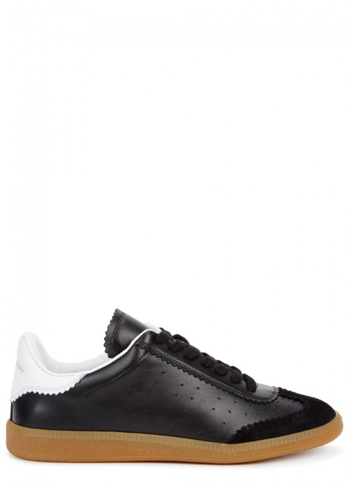 Bryce Black Leather Trainers
