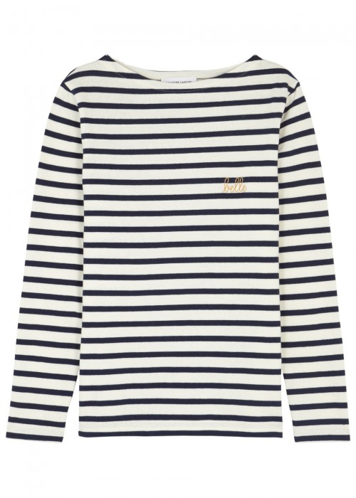 Maison Labiche BELLE STRIPED JERSEY TOP