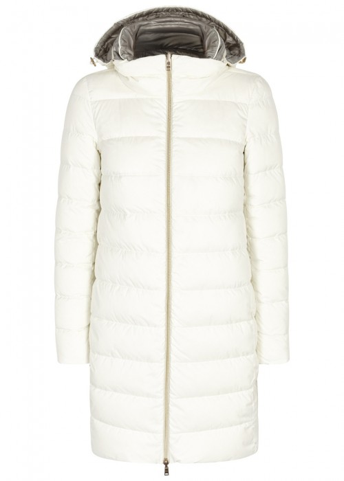 WHITE REVERSIBLE QUILTED SHELL COAT