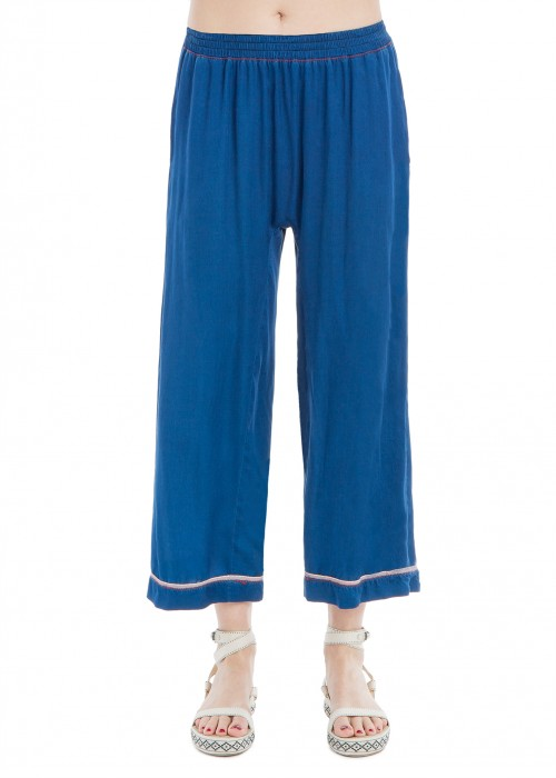 SATIN PAJAMA TROUSERS