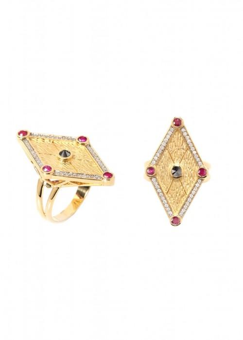 ARA VARTANIAN RUBIES AND DIAMONDS RING