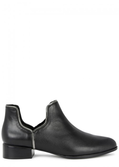 Senso BAILEY VII 40 BLACK LEATHER ANKLE BOOTS