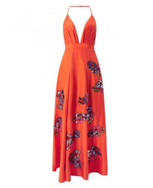 ANYA MAJ Hua Orange Dress