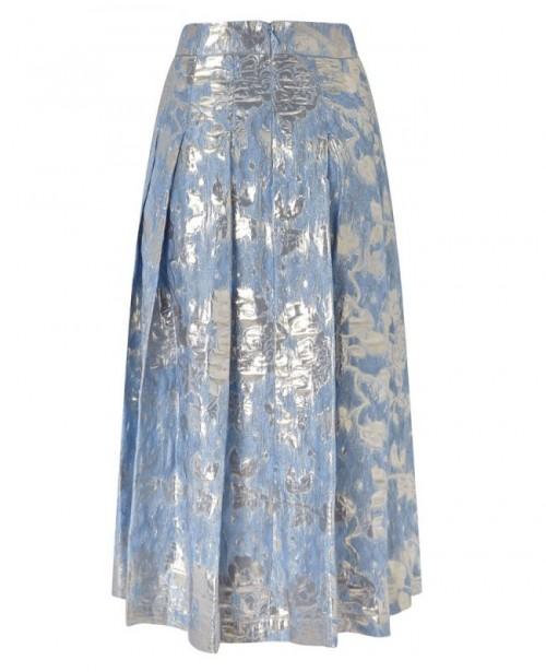 ANYA MAJ Kuniko Blue Top Skirt