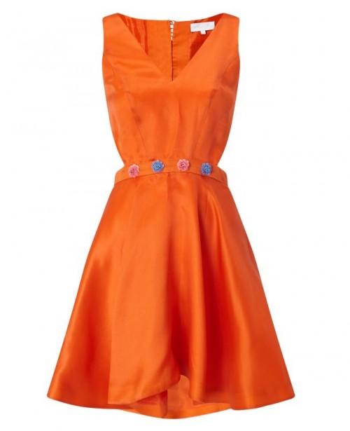 ANYA MAJ Lien Orange Dress