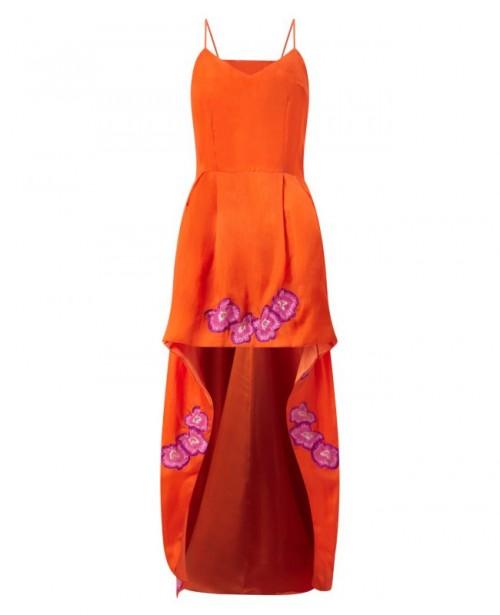 ANYA MAJ Mio Orange Dress