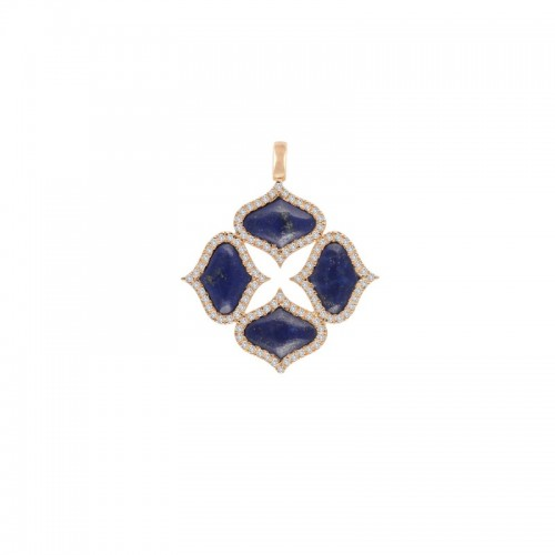 GYAN JEWELS LAPIS PENDANT (WITHOUT CHAIN)