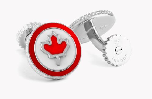 CANADA FLAG ROTATING CUFFLINKS