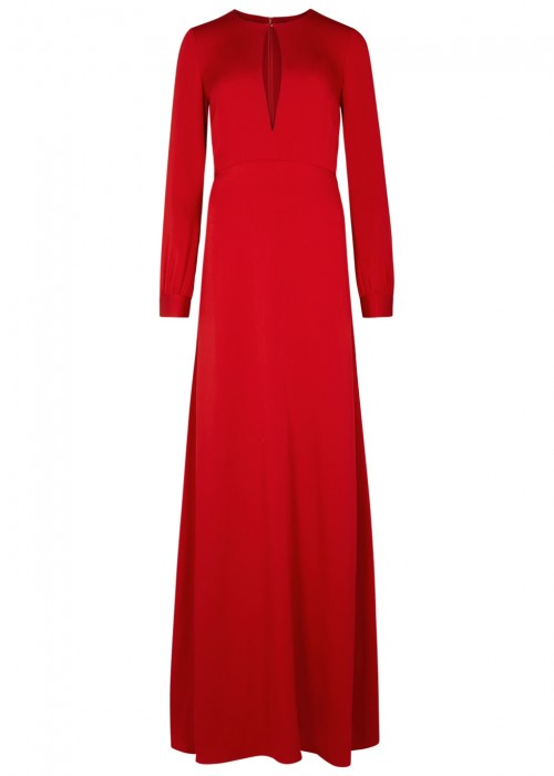 Dhela RED SILK GOWN