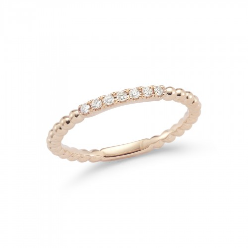 DANA REBECCA 14Ct Gold Semi Diamond Ring