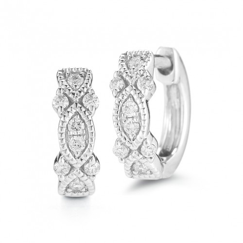 DANA REBECCA Gold Diamond Hoop Earrings