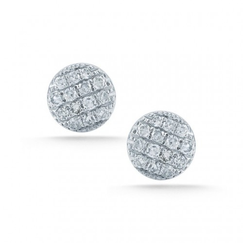 DANA REBECCA White Diamond Disc Earrings