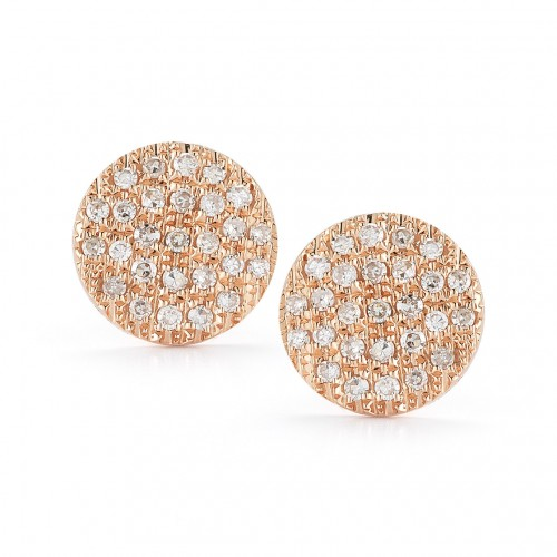 DANA REBECCA 14Ct Diamond Disc Earrings