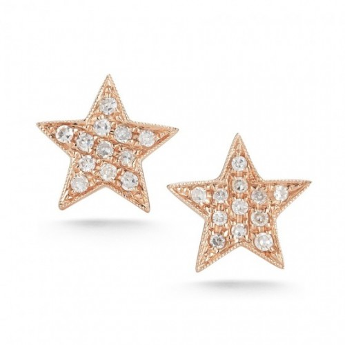 DANA REBECCA White Diamond Star Earrings