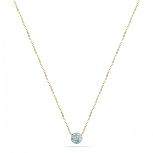 DANA REBECCA 14Ct Diamond Disc Necklace