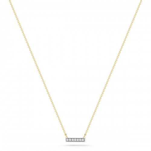 DANA REBECCA White Diamond Bar Necklace