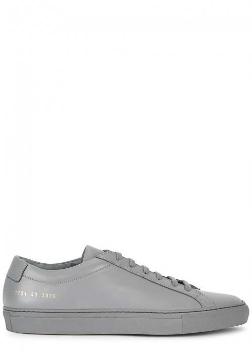 Common Projects  ORIGINAL ACHILLES GREY LEATHER TRAINERS