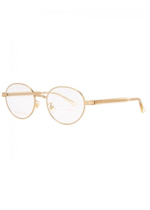 GOLD TONE OVAL-FRAME OPTICAL GLASSES