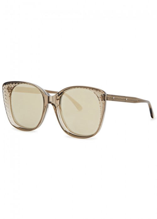 PALE GREY ENGRAVED MIRRORED SUNGLASSES